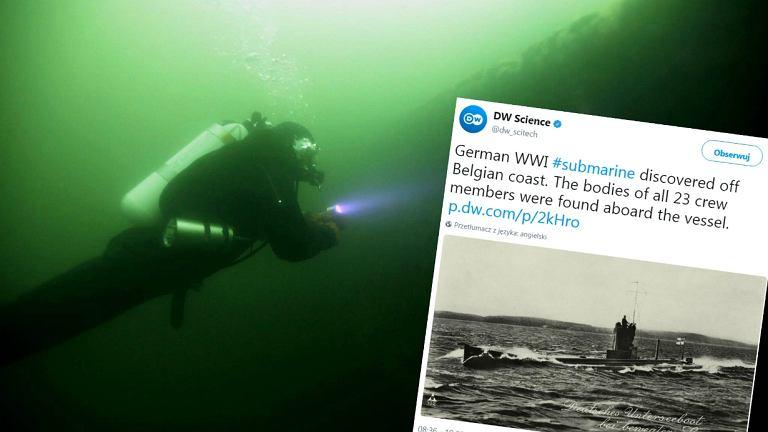 Belgijscy nurkowie odkryli wrak niemieckiej łodzi podwodnej z I wojny światowej w Morzu Północnym