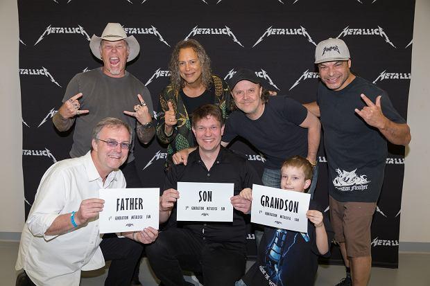 Metallica zdjęcie z fanami