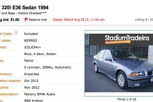 BMW 320i za jednego dolara