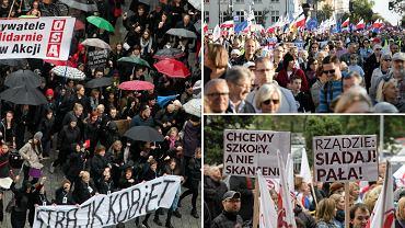 """Mamy KOD. Spodziewam się, że przywódczynie """"czarnego strajku"""" powołają rychło ruch obrony praw kobiet, bo jest o co walczyć. Do sprzeciwu przystąpił rozwścieczony Związek Nauczycielstwa Polskiego wspierany przez OPZZ"""