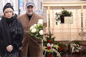 Katarzyna i Cezary Żakowie na pogrzebie Wojciecha Pokory