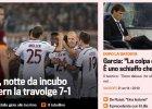 Liga Mistrz�w. W�oskie media o meczu Romy z Bayernem: Koszmar i horror