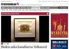 Zrzut ekranu ze strony szwedzkiej gazety
