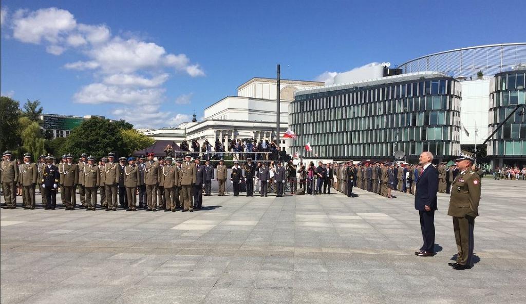 Uroczystości, z okazji obchodów przypadającego 15 sierpnia Święta Wojska Polskiego.