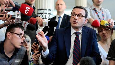 Mateusz Morawiecki w Sejmie u protestujących niepełnosprawnych, 20.04.2018