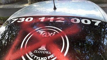 Uszkodzony samochód TAXI Złotówa