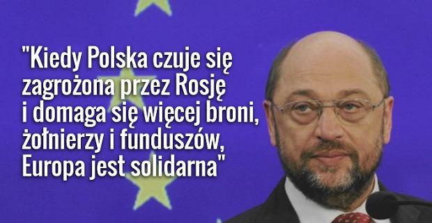 Martin Schultz, przewodnicz�cy Parlamentu Europejskiego
