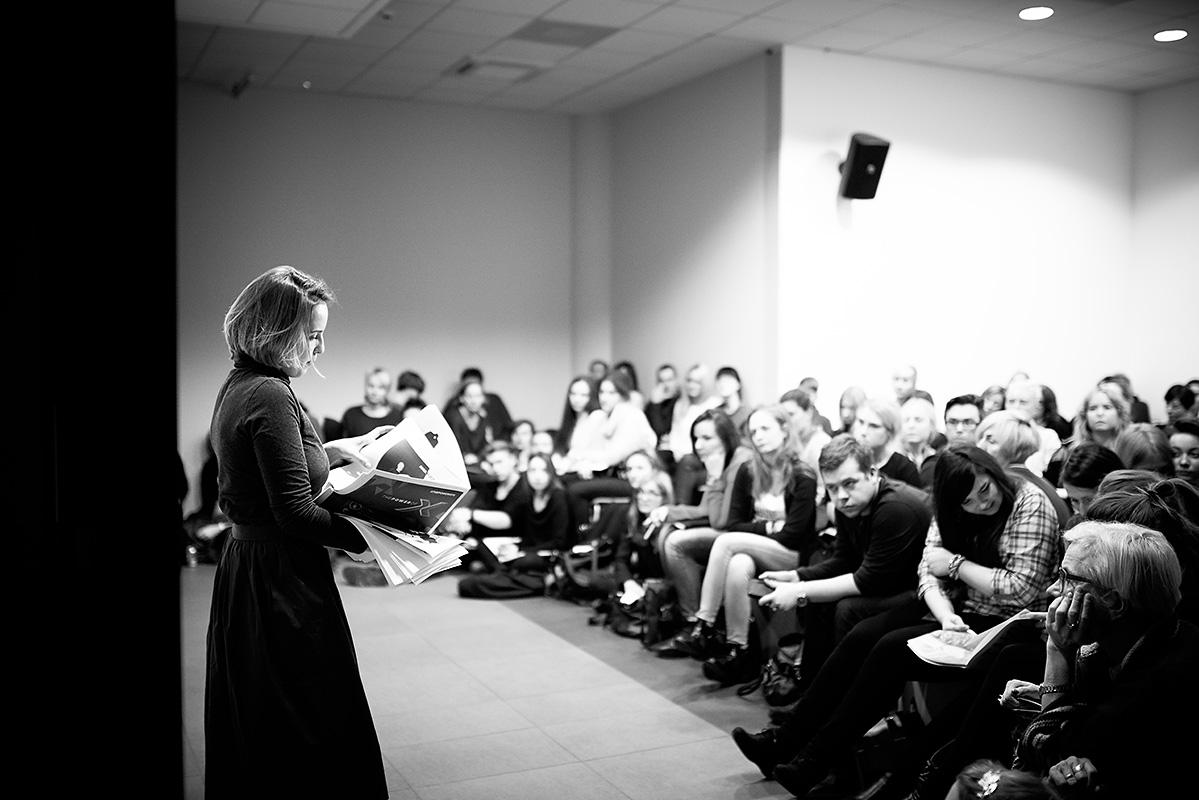 Fashion PR Talks Łódź - pierwszy wykład Olki Kaźmierczak (fot. Marcin Szyszkowski)