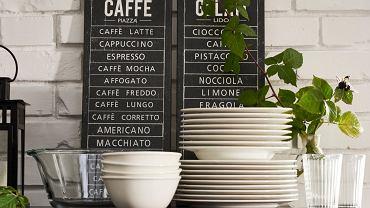 Grafiki, jakie można spotkać w kawiarniach i restauracjach, to oryginalna ozdoba kuchni.
