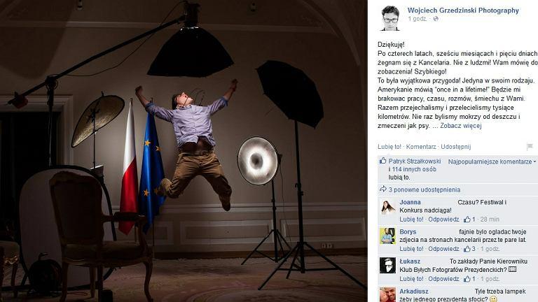 Pożegnalny wpis fotografa prezydenta
