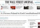 """""""WSJ"""": Amerykanie o kryzysie wokół TK. Albo polskie władze go zakończą, albo czeka nas ochłodzenie stosunków"""