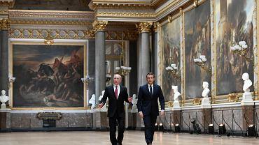 Władimir Putin i Emanuel Macron w Wersalu