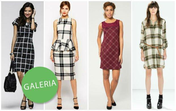 Naj�adniejsze sukienki w krat� z jesiennych kolekcji