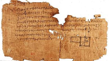 Papirus z Oksyrynchos. Fragment Elementów Euklidesa.