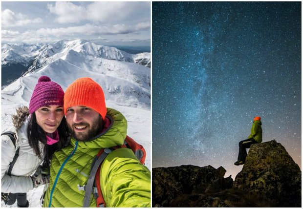 Para zakochanych robi niesamowite zdj�cia Tatr. Zim� w�druj� po g�rach, noce sp�dzaj� pod go�ym niebem