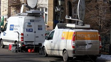 Wozy transmisyjne telewizji Polsat i TVP