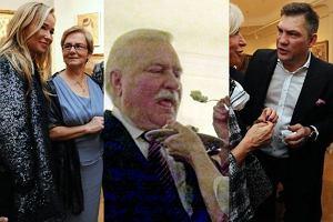 Lech Wałęsa, Joanna Przetakiewiecz, Dariusz Michalczewski.