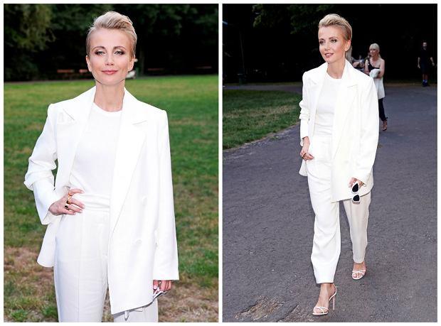 f676475f0f kobiece garnitury białe. Redakcja. Katarzyna Zielińska w letnim garniturze.  Wiemy
