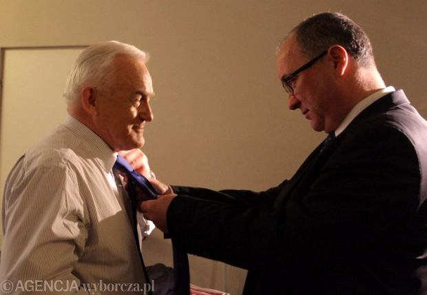 Leszek Miller i Włodzimierz Czarzasty na mazowieckiej Konwencji SLD przed wyborami do PE