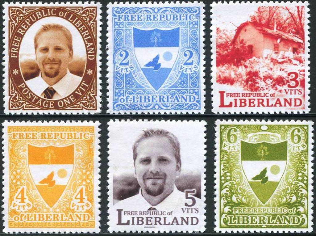 Projekt znaczków Liberlandu (fot. Liberland)