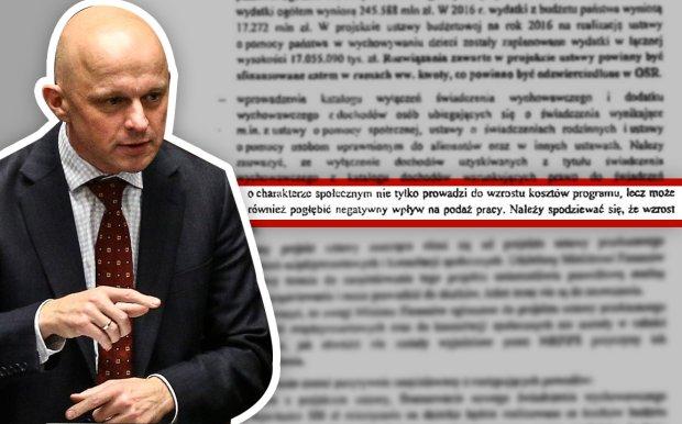Opinia Ministerstwa Finans�w nt. projektu