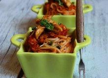 Spaghettti z soczewic� i grillowanymi pol�dwiczkami drobiowymi - ugotuj