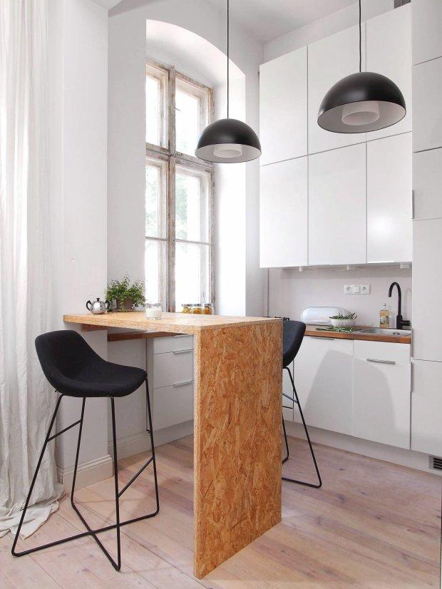 mieszkanie w stylu loftowym, wystrój wnętrz, aranżacje wnętrz, kuchnia