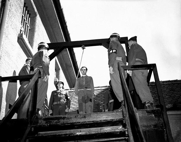 28 maja 1946 r. Egzekucja Rudolfa Suttropa, adiutanta komendantów obozów koncentracyjnych w Dachau i Gross-Rosen