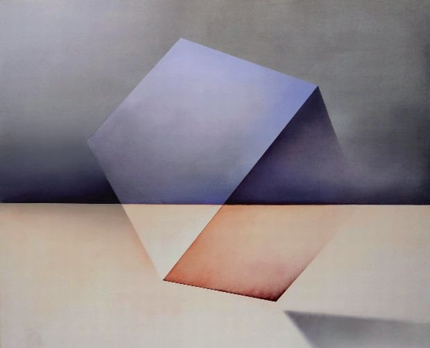 Wniebomigracja III, 2014, olej na płótnie, 110 x 100 cm.