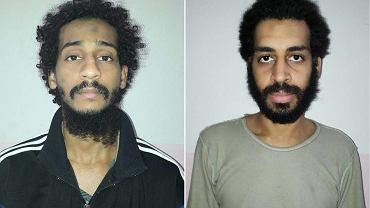 Terroryści ISIS Elshafee Elsheikh i Alexanda Kotey miesiąc temu zostali schwytani w północnej Syrii. Fotomontaż z 11 lutego 2018 r.