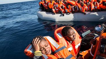 Migranci uratowani na Morzu Śródziemnym