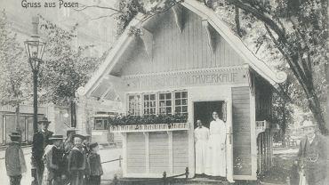 Pijalnia mleka na pl. Wilhelmowskim, początek XX wieku.