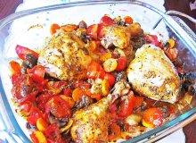 Kurczak pieczony z pomidorami - ugotuj