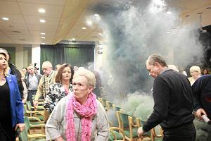 Adam Michnik: Dym specjalnie na mój przyjazd? To zdarzyło się pierwszy raz [FOTO, WIDEO]