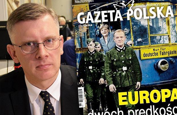 Sławomir Cenckiewicz/ okładka tygodnika ''Gazeta Polska'