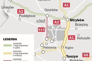 Można budować odcinek A1 między Strykowem a Tuszynem