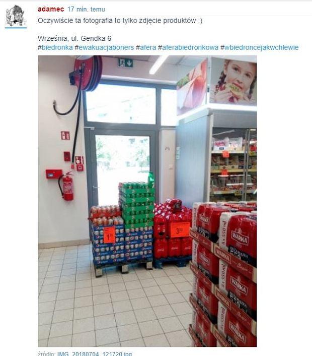 Niektóre sklepy sieci Biedronka mają problem z rozmieszczeniem towarów