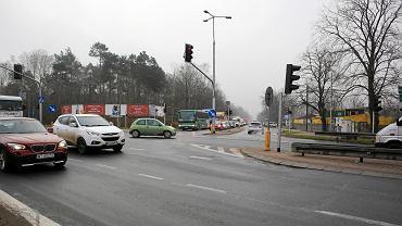 Skrzyżowanie drogi S2 z drogą S17