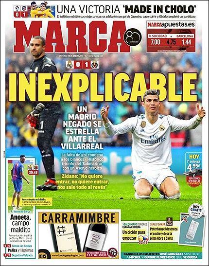 okładki hiszpańskich gazet
