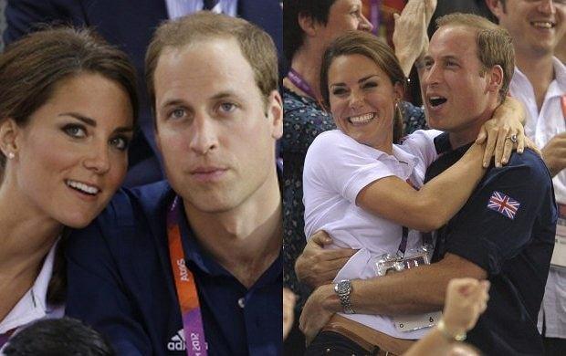 Ksi�na Kate w ramionach ksi�cia Williama na Olimpiadzie!