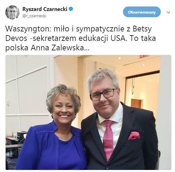 Wpis europosła Ryszarda Czarneckiego