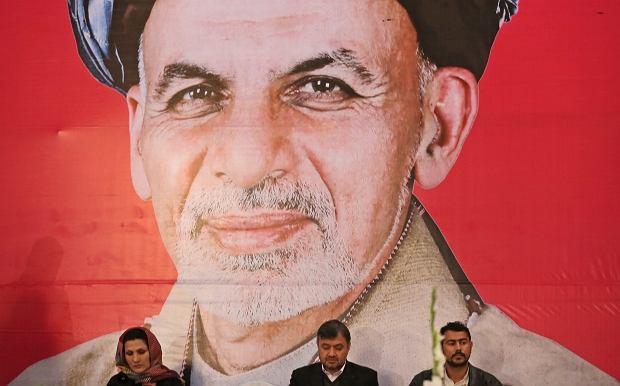 Plakat wyborczy Hamida Karzaja