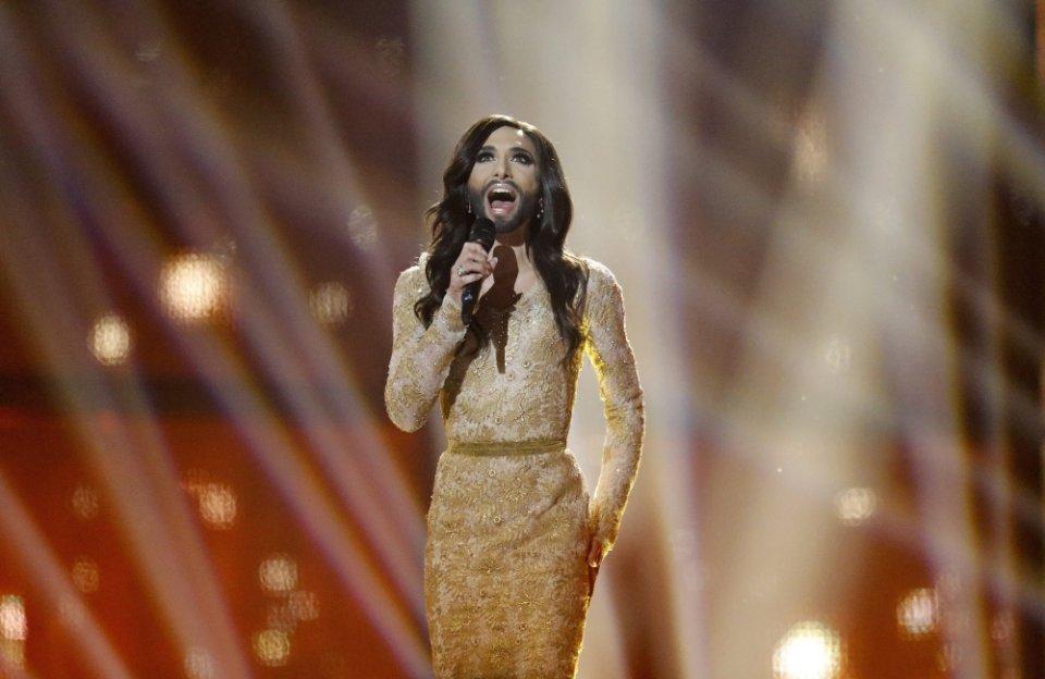 Symbol europejskiego gender oraz zwyciężczyni tegorocznej Eurowizji - Conchita Wurst z Austrii