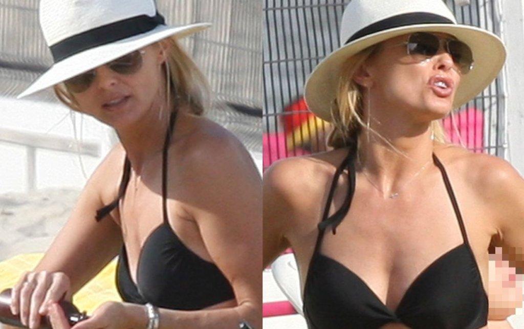 Niedawno pokazywaliśmy Wam zdjęcia z Izabelli Scorupco, która odpoczywała na plaży ze swoją córką, eksmężem Mariuszem Czerkawski i jego żoną oraz synem. Choć wtedy oglądaliśmy aktorkę ubraną, nie mogliśmy się nachwalić jej figury. Gdy zobaczyliśmy ją w bikini, tylko utwierdziliśmy się we wcześniejszej opinii. Modelka i aktorka wygląda wspaniale.