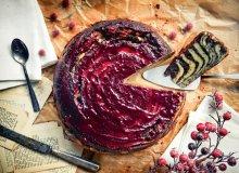 Marmurkowe ciasto serowe z malinow� kuwertur� - ugotuj