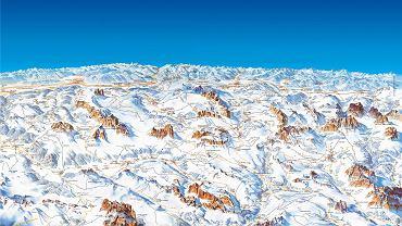 Mapa tras Dolomiti Superski