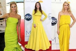 Na Emmy kr�lowa� ��ty kolor. Trzy nagrody dla trzech aktorek w podobnych sukienkach!