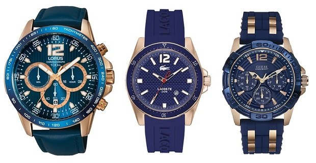 f253bd454cf41 Zegarki męskie z motywami różowego złota i błękitu fot. materiały prasowe