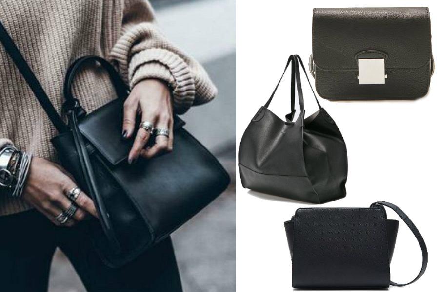 2b1ddf2ea5d94 Czarne modne torebki - klasyczne wzory