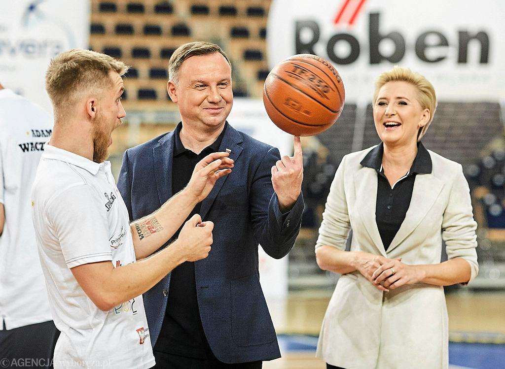 Para Prezydencka na otwarciu XI edycji 'Marcin Gortat Camp'